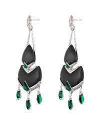 Alexis Bittar | Black Crystal Deco Chandelier Earring | Lyst