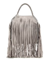 Stella McCartney | Gray Falabella Mini Fringed Shoulder Bag | Lyst