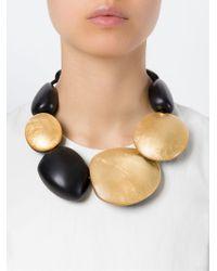 Monies | Black Oversized Beads Necklace | Lyst