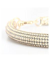 Atelier Swarovski - Metallic Slim Bolster Necklace Golden Shadow - Lyst