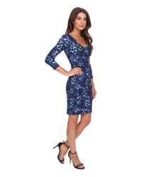 NYDJ | Blue Monique Cheetah Print Dress | Lyst