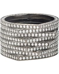 Repossi - Metallic Eight-row Antifer Ring - Lyst