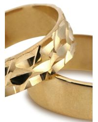 MFP MariaFrancescaPepe | Metallic 23kt Gold Plated Midi Rings | Lyst
