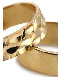 MFP MariaFrancescaPepe - Metallic 23kt Gold Plated Midi Rings - Lyst