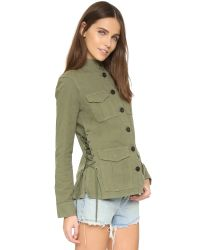 Tory Burch | Green Side Lace Jacket | Lyst