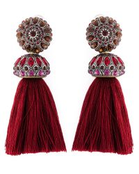Lanvin | Red Tassel Clip-on Earrings | Lyst