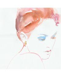 Lulu Frost | Metallic Code Number 18kt #6 Earring | Lyst