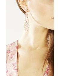 BCBGMAXAZRIA - Metallic Multi Stone Earrings - Lyst
