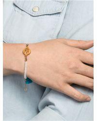 BaubleBar | Blue Alpha Tassel Bracelet | Lyst