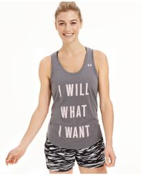 Under Armour - Gray Graphic Tank Top - Lyst