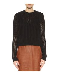 Rick Owens - Black Cotton-blend Sweater - Lyst