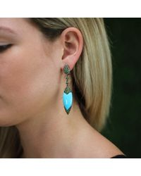 Wendy Yue - Blue Turquoise Shield Earrings - Lyst