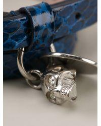Alexander McQueen - Blue Double Strap Bracelet for Men - Lyst