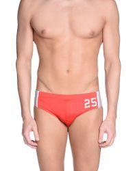 Bikkembergs - Red Bikini Bottoms for Men - Lyst