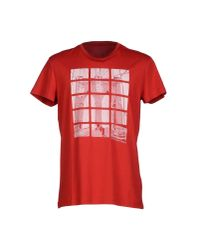 Calvin Klein Jeans - Red T-shirt for Men - Lyst