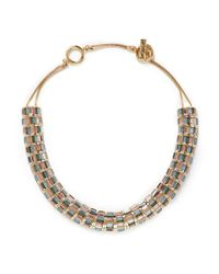 St. John - Green 'rondelle' Swarovski Crystal Necklace - Lyst