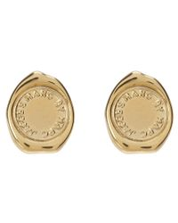 Marc By Marc Jacobs - Metallic Stamped Studs - Lyst