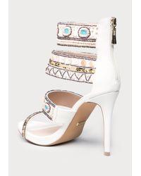 Bebe | White Lolana Beaded Sandals | Lyst