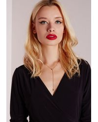 Missguided | Metallic Star And Moon Necklace | Lyst