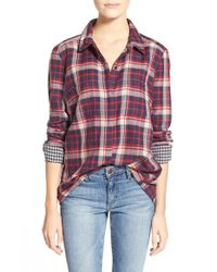 Splendid | Red 'hunter' Plaid Shirt | Lyst