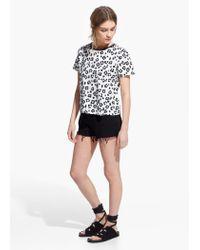Mango   Multicolor Leopard Print T-Shirt   Lyst