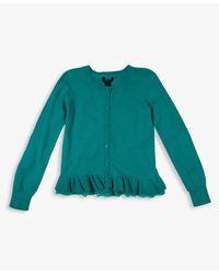 Forever 21 - Green Girls Ruffled Lace Cardigan - Lyst