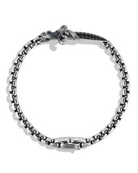 David Yurman | Metallic Waves Dagger Bracelet With Black Diamonds for Men | Lyst