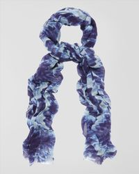 Jaeger - Blue Ice Flower Scarf - Lyst