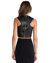 Nicholas - Black Leather Crop Top - Lyst