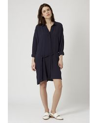 TOPSHOP | Blue Self-Tie Shirt Dress | Lyst