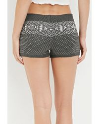 Forever 21 | Gray Fair Isle-patterned Shorts | Lyst