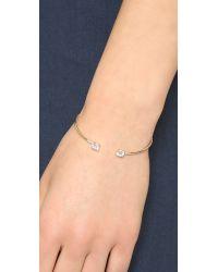Shashi | Metallic Penelope Cuff Bracelet - Clear/gold | Lyst