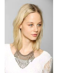 Urban Outfitters | Black Bell Mesh Bib Necklace | Lyst