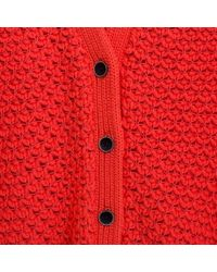 Paul Smith | Pink Women'S Coral Bobble-Stitch Crochet Cardigan | Lyst