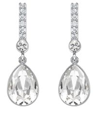 Swarovski | Metallic Attention Crystal Linear Drop Earrings | Lyst