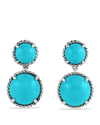 David Yurman | Metallic Châtelaine Double Drop Earrings With Turquoise | Lyst