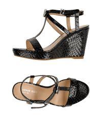 Armani Jeans - Black Sandals - Lyst