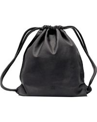 Loewe | Yago Calf Leather Backpack, Black | Lyst