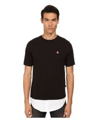 Love Moschino - Black Regular Fit Tee With Shirt Trim for Men - Lyst