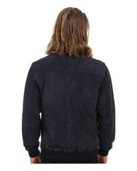 Obey - Blue Clyde Suede Jacket for Men - Lyst