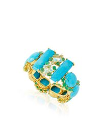Bounkit | Turquoise, Emerald, And Blue Quartz Cuff | Lyst