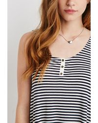 Forever 21 | Blue Ribbed Knit Stripe Tank | Lyst
