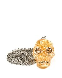 Alexander McQueen | Metallic Skull Necklace | Lyst