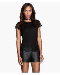 H&M | Black Lace Top | Lyst
