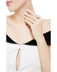 Nicholas Varney - White South Sea Pearl And Diamond Vine Ring - Lyst