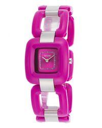 Nixon | Women'S Sisi Purple And Silver-Tone Bracelet Purple Dial | Lyst