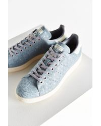 Adidas | Gray Foil Snake Stan Smith Sneaker | Lyst