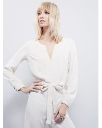 Free People | White Magnolia One Piece | Lyst