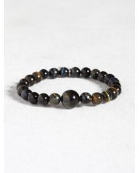 John Varvatos | Brown Blue Tigers Eye Limited Edition Bracelet for Men | Lyst