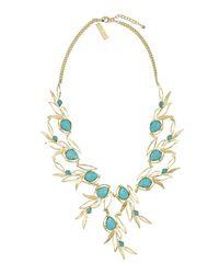 Kendra Scott | Blue Magnolia Leaflink Necklace Turquoise | Lyst